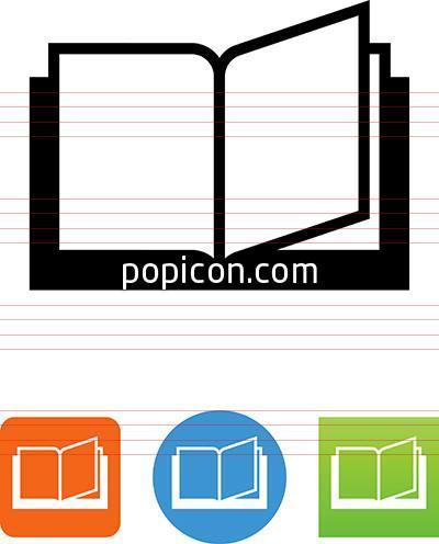 400x496 Vector Open Book Icon