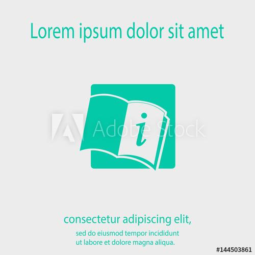 500x500 Open Book Icon, Vector Illustration. Flat Design Style