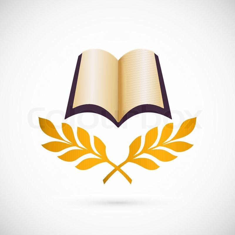 800x800 Open Book Vector Icon Education Creative Symbol Design Stock