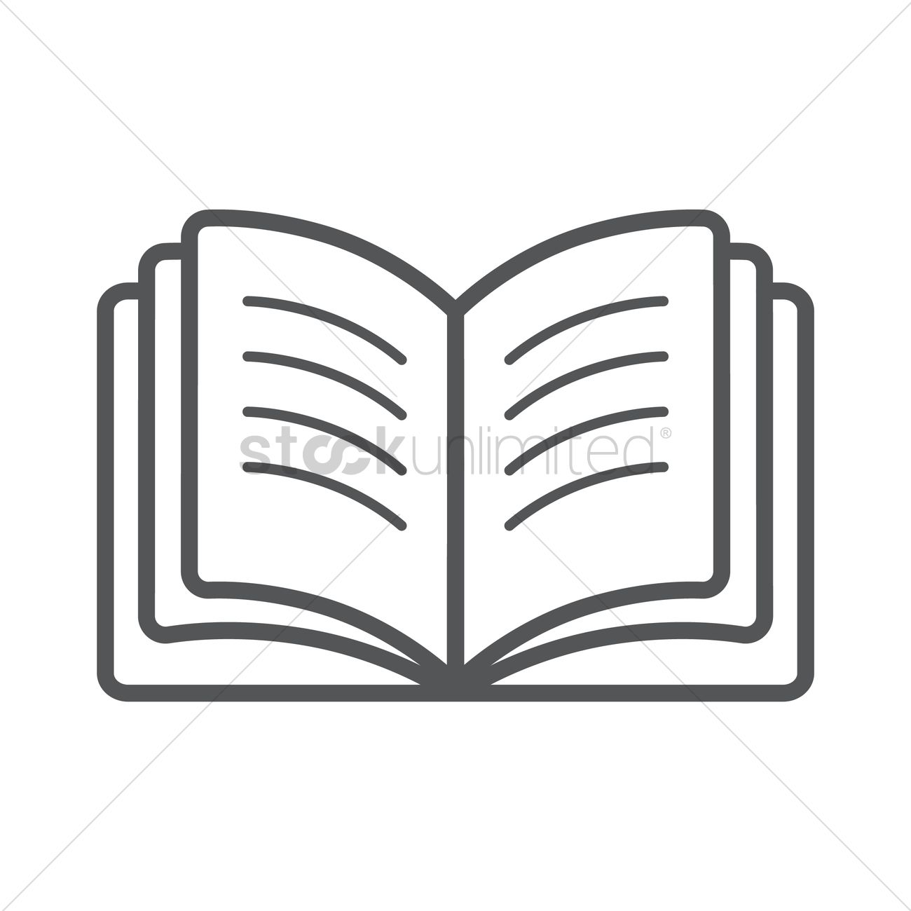 1300x1300 Open Book Vector Image