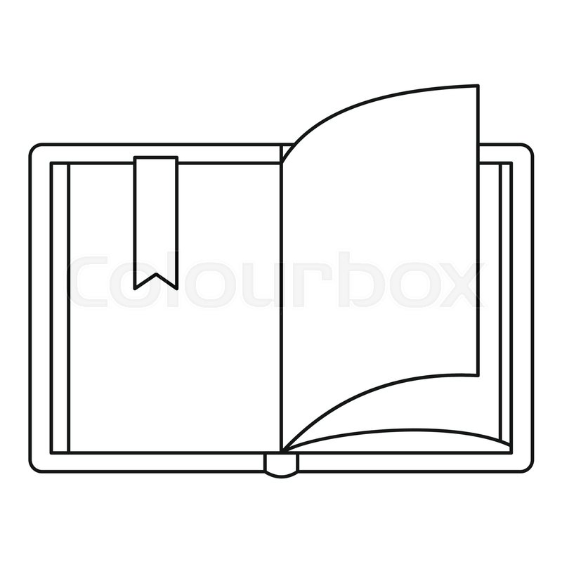 800x800 Open Book Icon. Outline Illustration Of Open Book Vector Icon For