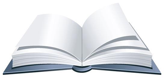 555x265 Open Book Vector Design