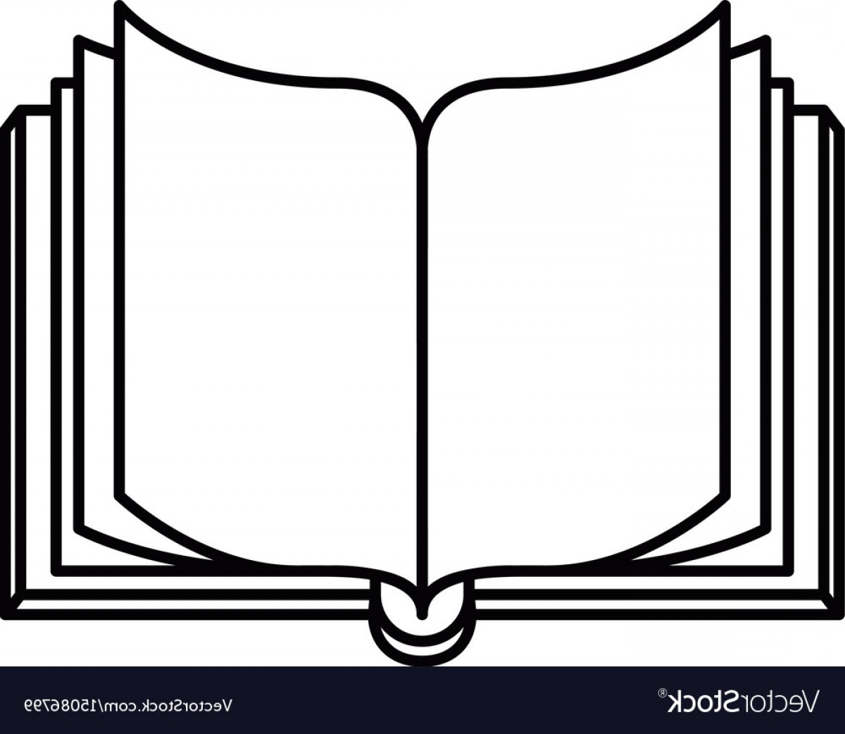 1200x1042 Sketch Silhouette Image Front View Open Book Vector Shopatcloth
