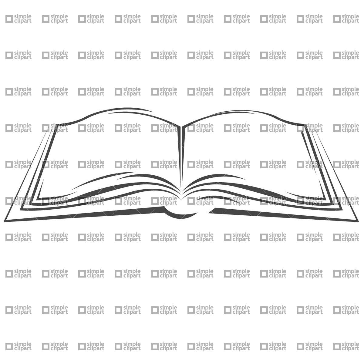 1200x1200 Symbolic Open Book Vector Image