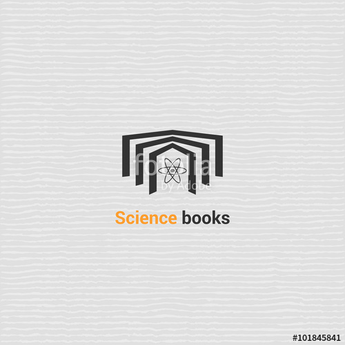 500x500 Bookstore Vector Logo Template With Open Book. Vector Icon For