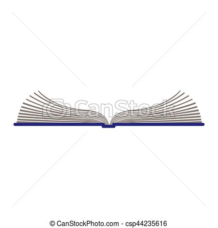 450x470 Color Silhouette With Open Book Vector Illustration.