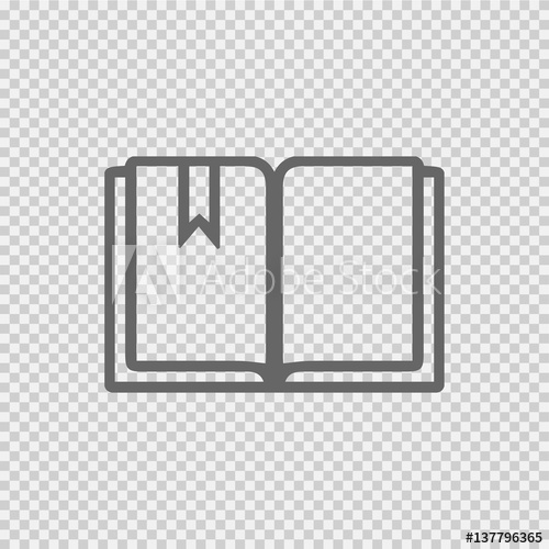 500x500 Open Book Vector Icon Eps 10. Simple Isolated Illustration On