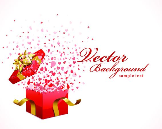 567x454 Open Gift Box Vector Free