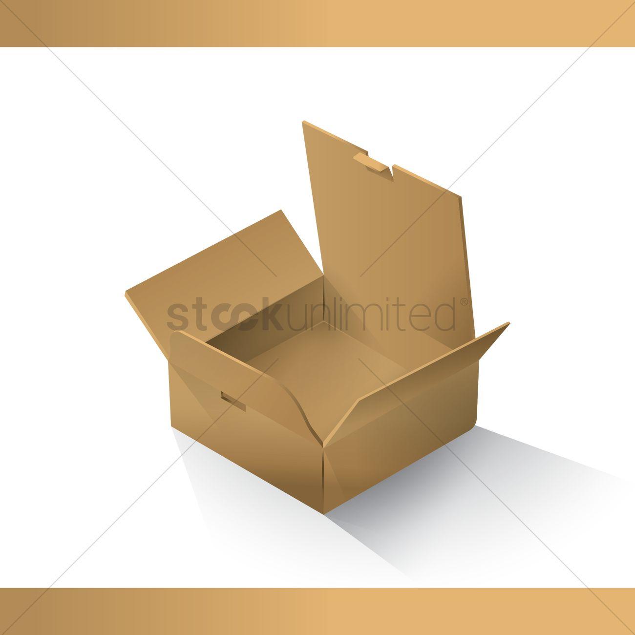 1300x1300 Open Box Vector Image