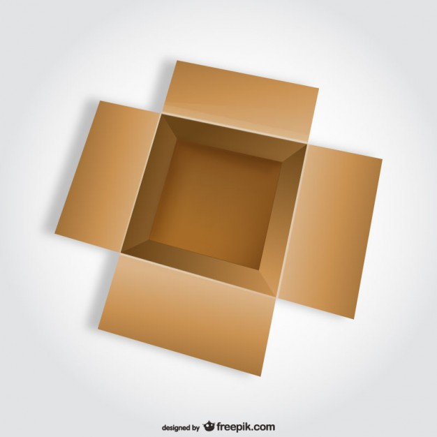 626x626 Open Box Top View Vector Free Download