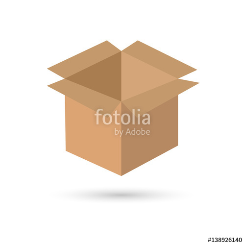 500x500 Open Box. Vector Illustration. Stock Image And Royalty Free