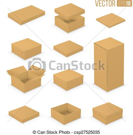 450x459 Open Boxes. Open And Closed Boxes Design Collection. Brown
