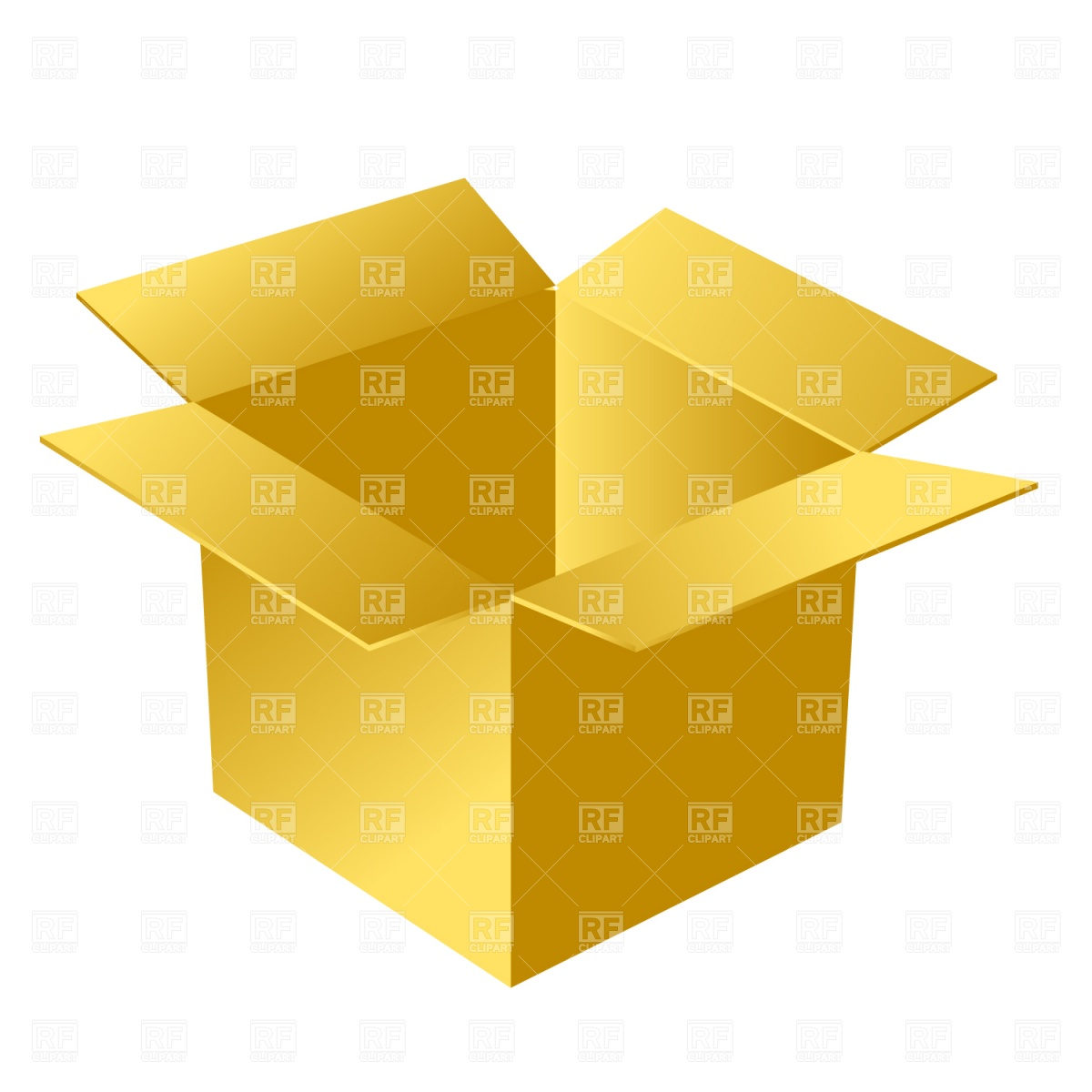 1200x1200 Open Cardboard Box Vector Image Vector Artwork Of Objects