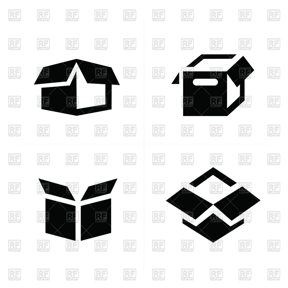 1200x1200 Parcel Box, Open Box Icons Vector Image Vector Artwork Of Icons
