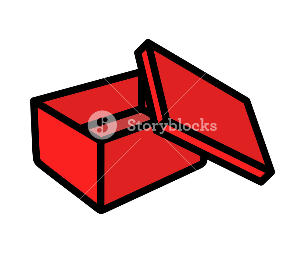 1000x829 Retro Open Box Vector Shape Royalty Free Stock Image