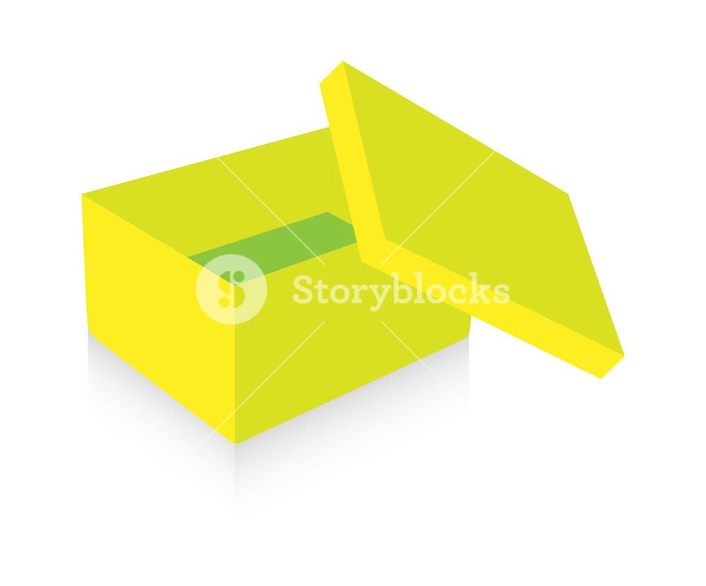 1000x830 Yellow Open Box Vector Royalty Free Stock Image