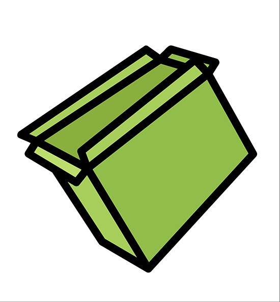 550x593 Download Free Cartoon Open Box Vector Illustration