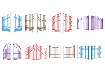 352x247 Free Open Gate Vector Free Vector Download 419877 Cannypic