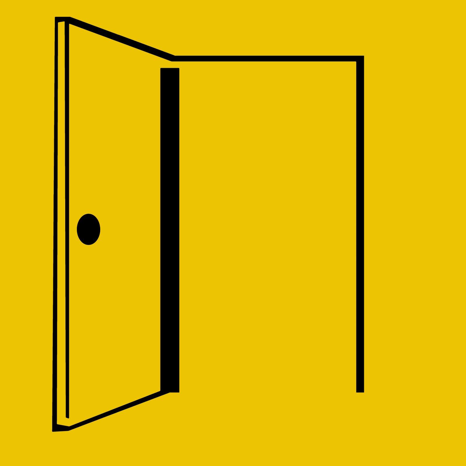 1600x1600 Open Door Clipart Animated