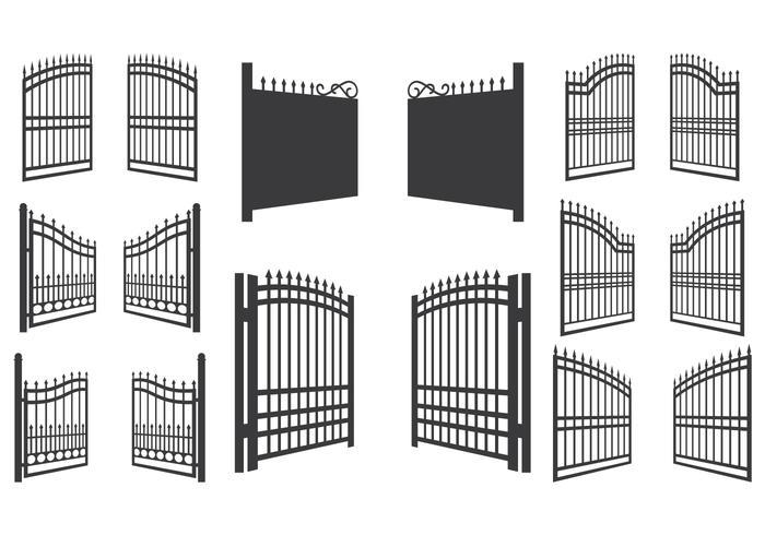700x490 Open Gate Vector Illustration