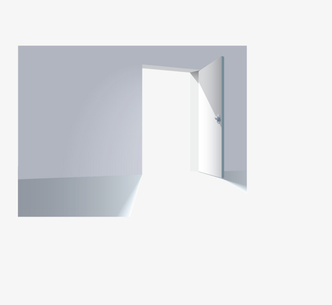 650x597 Vector Painted Open Door, Door Vector, Vector, Hand Painted Png
