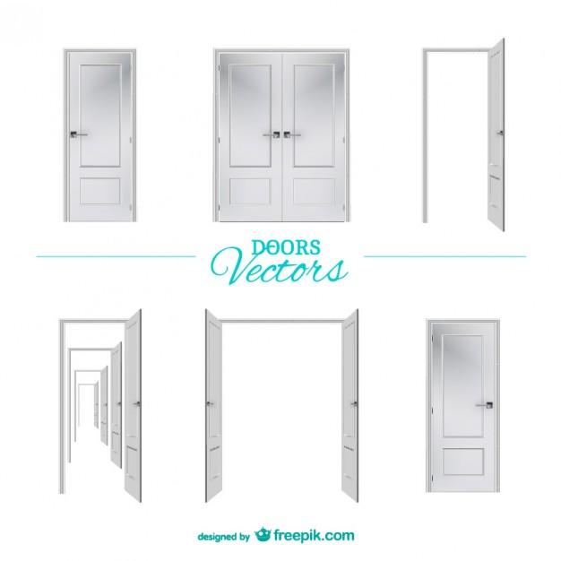 626x626 White Doors Vector Free Download