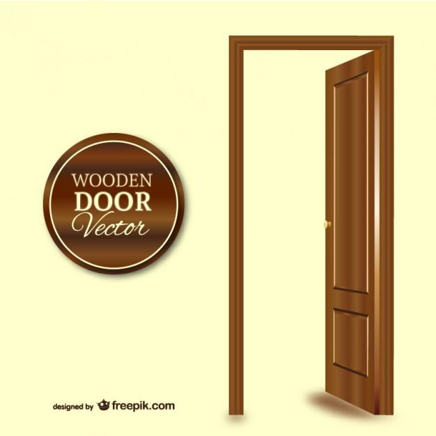 626x626 Wooden Door Vector Free Download