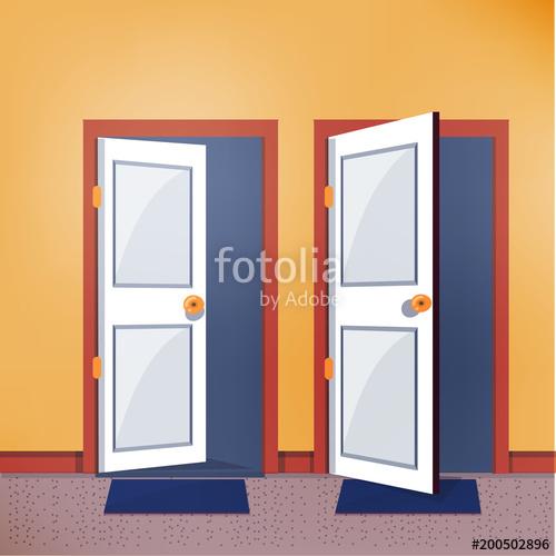 500x500 Close And Open Door