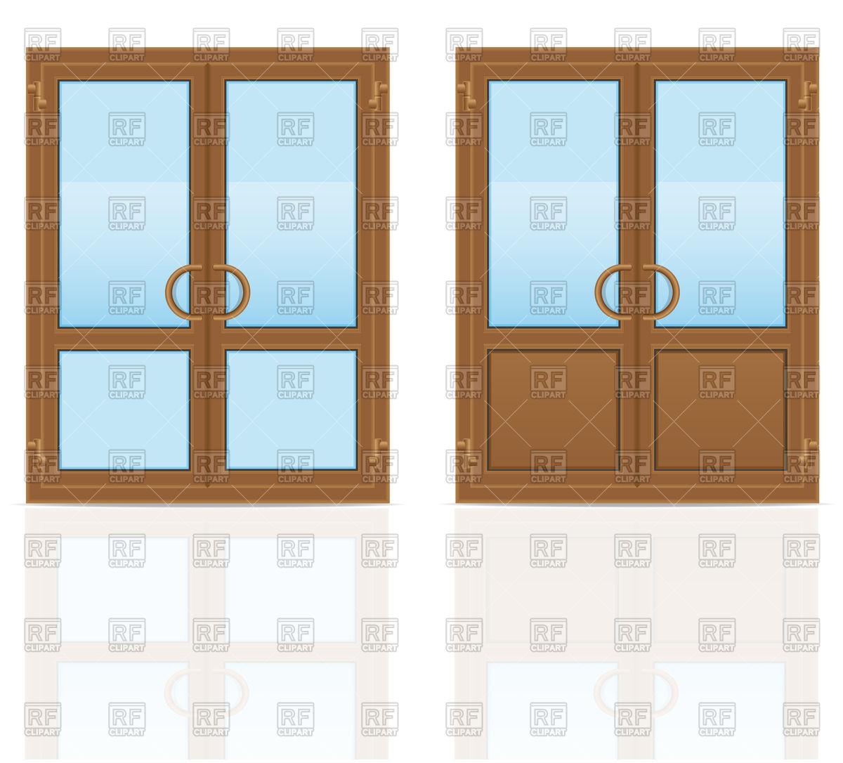 1200x1086 Closed Double Doors Clip Art
