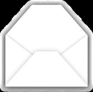 298x297 Open Envelope Clip Art