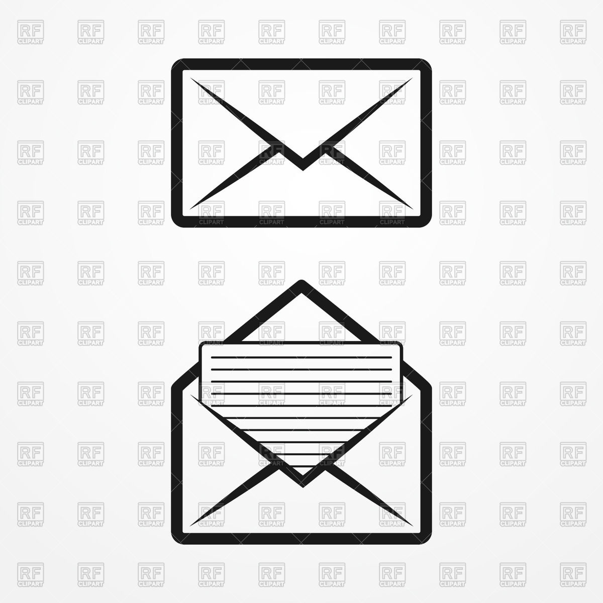 1200x1200 Open And Closed Envelopes