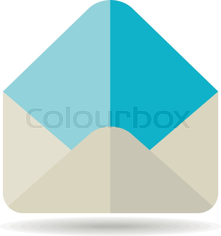 750x800 Open Envelope Vector Icon. E Commerce Sign. Graph Symbol For Your