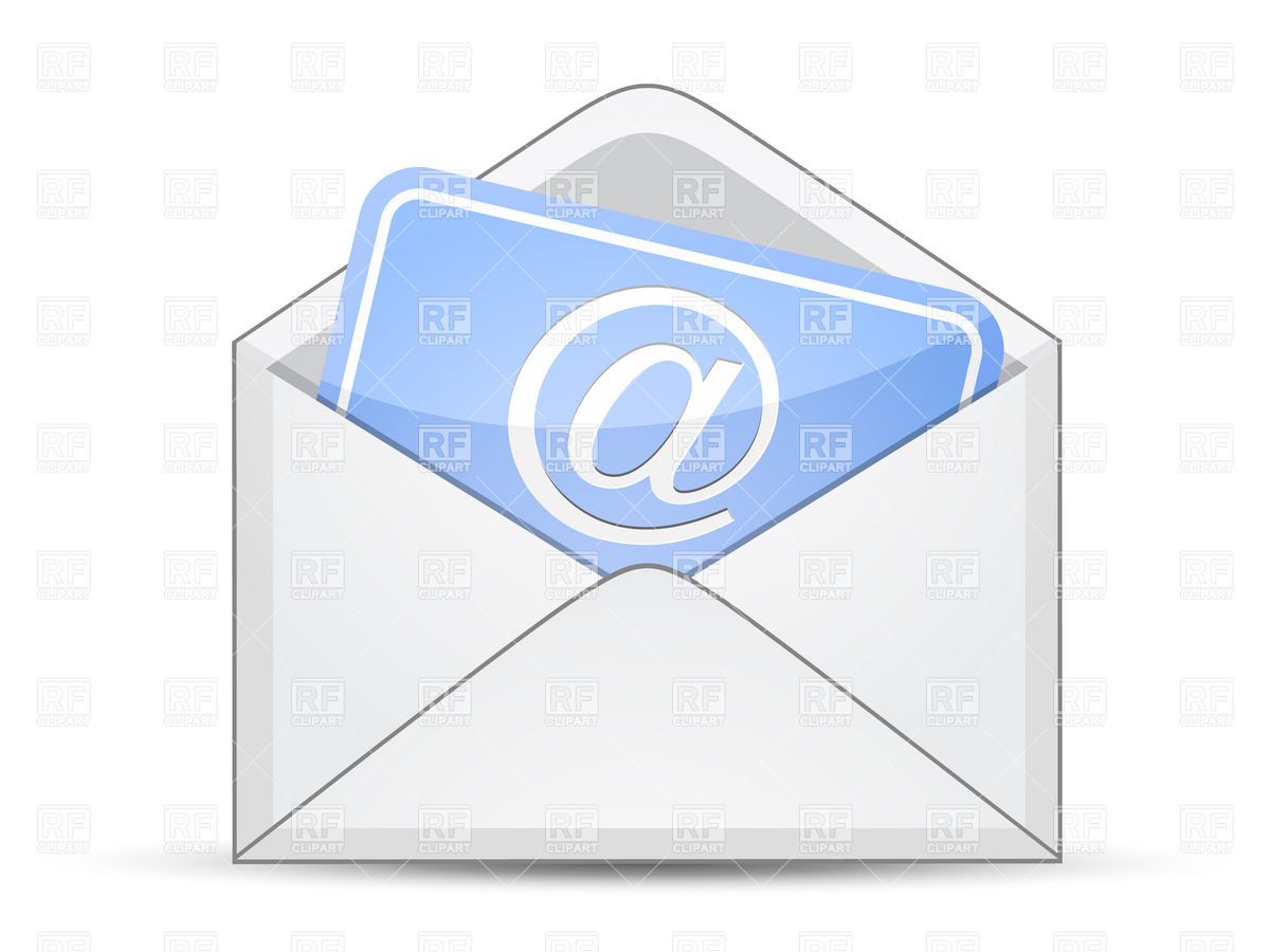 1200x900 Open Envelope With Card And E Mail Sign Vector Image Vector