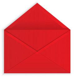 238x250 Red Envelope Open Vector Stock Vector