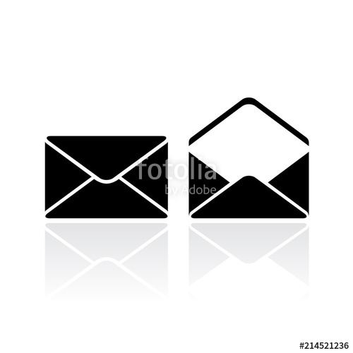500x500 Closed And Open Envelope Vector Icon Stock Image And Royalty Free
