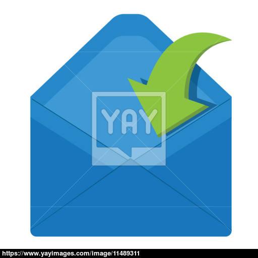 512x512 Open Envelope Vector