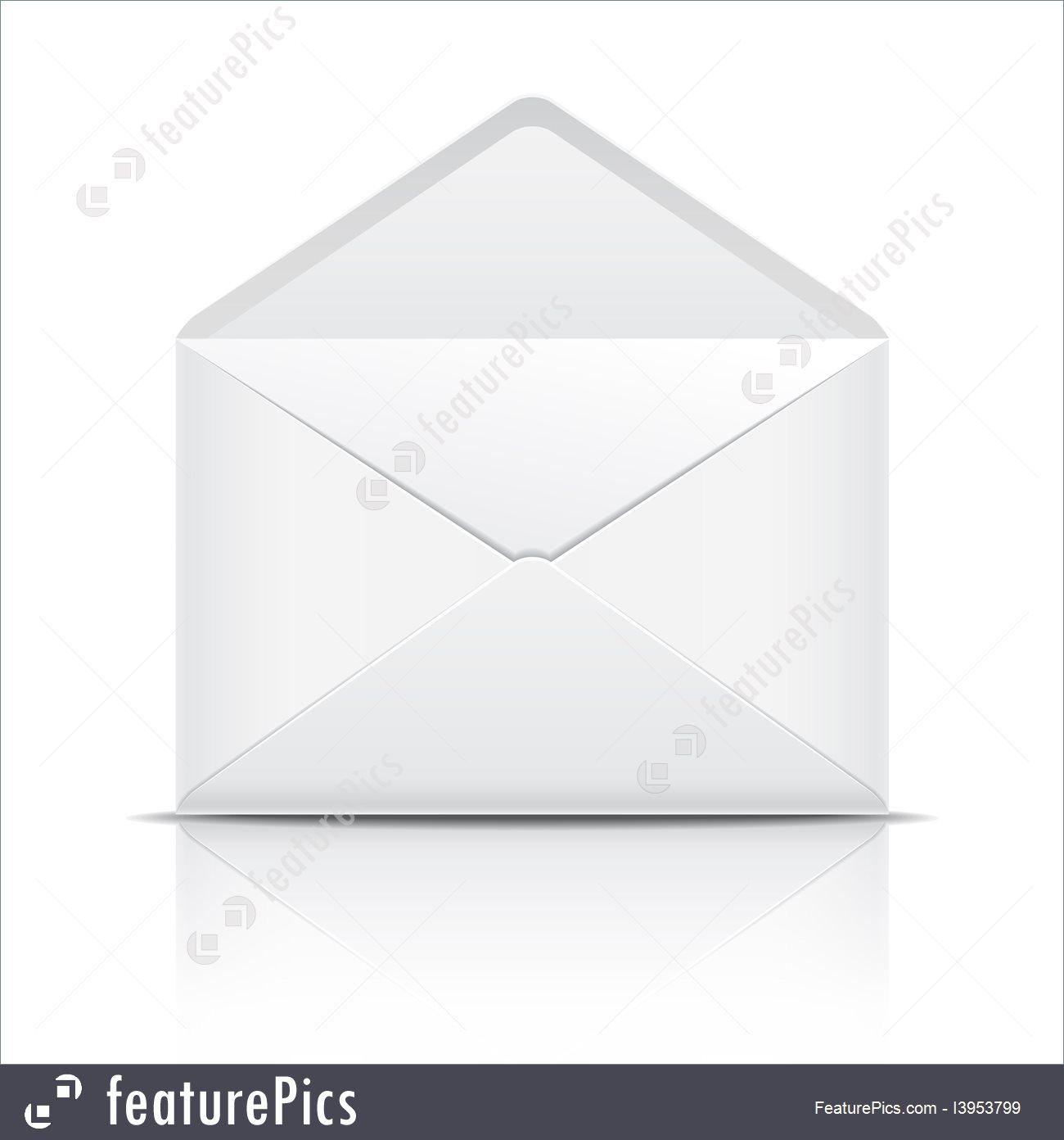 1300x1392 Illustration Of White Open Envelope