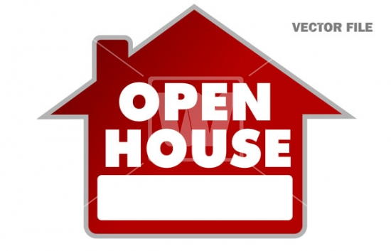 550x353 Open House Sign