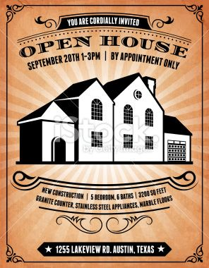 296x380 Open House On Royalty Free Vector Background Invitation Royalty