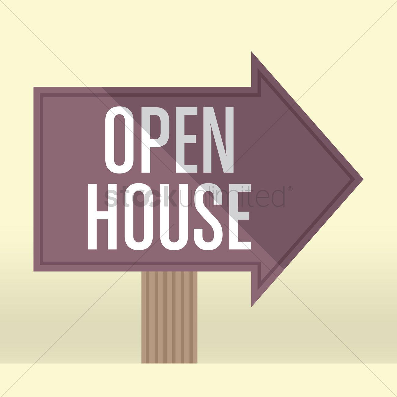 1300x1300 Open House Vector Image