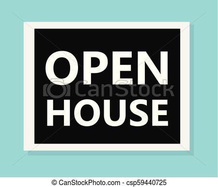 450x387 Open House Concept Vector Illustration.