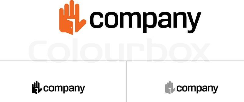800x337 Open House Door Logo Stock Vector Colourbox