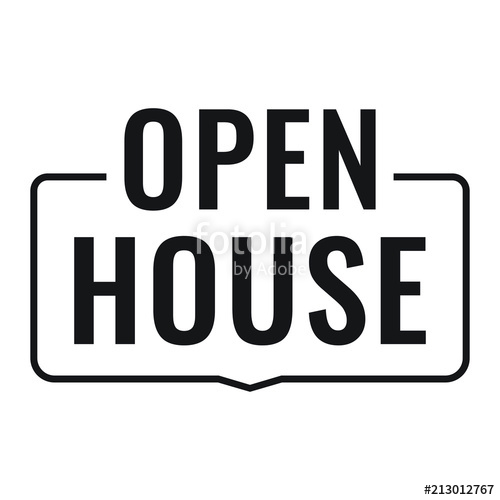 500x500 Open House. Vector Badge, Stamp On White Background. Stock Image