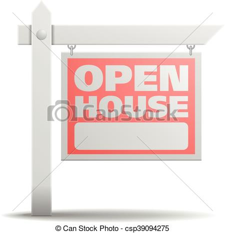 450x467 Sign Open House. Detailed Illustration Of A Open House Real Estate