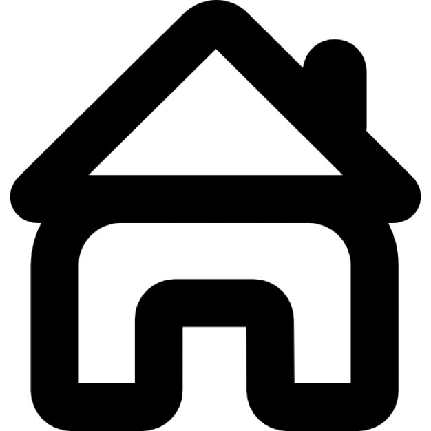 626x626 Small House With Open Door Outline Icons Free Download, Small