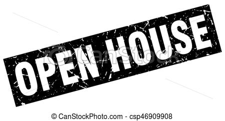 450x242 Square Grunge Black Open House Stamp.