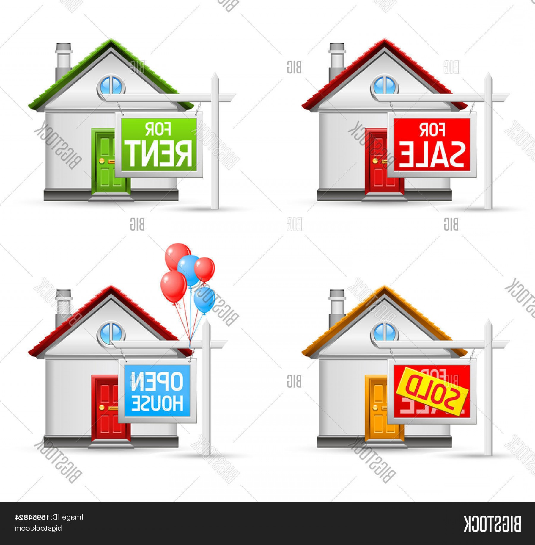 1800x1832 Stock Vector Real Estate Icons Set House For Salec For Rentc Soldc