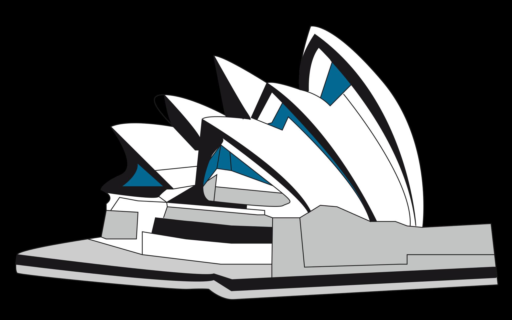 2000x1250 Sydney Opera House Clipart Sydney Opera House Vector