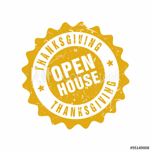 500x500 Vector Thanksgiving Open House Stamp