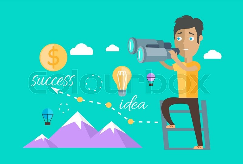 800x542 Man Finding Opportunities Concept. Success Business Career, Chance